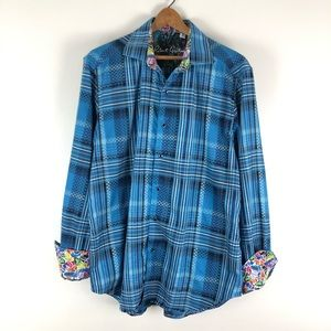 Robert graham flip cuff casual plaid button up